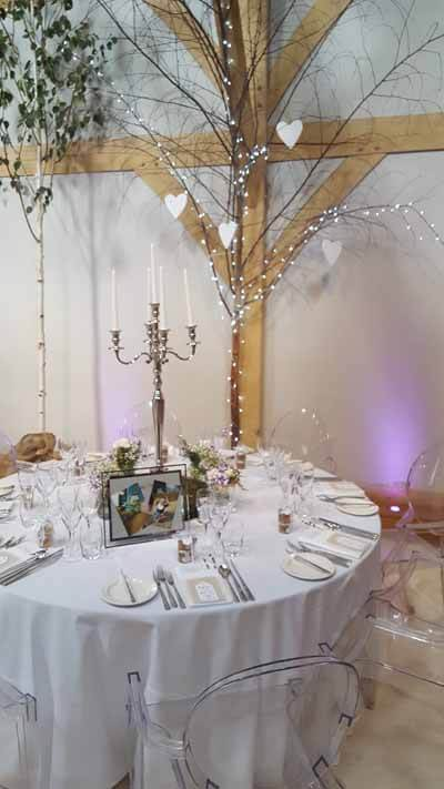 Weddings - Props For Hire - Table Centrepiece - Candelabra Tall Chrome