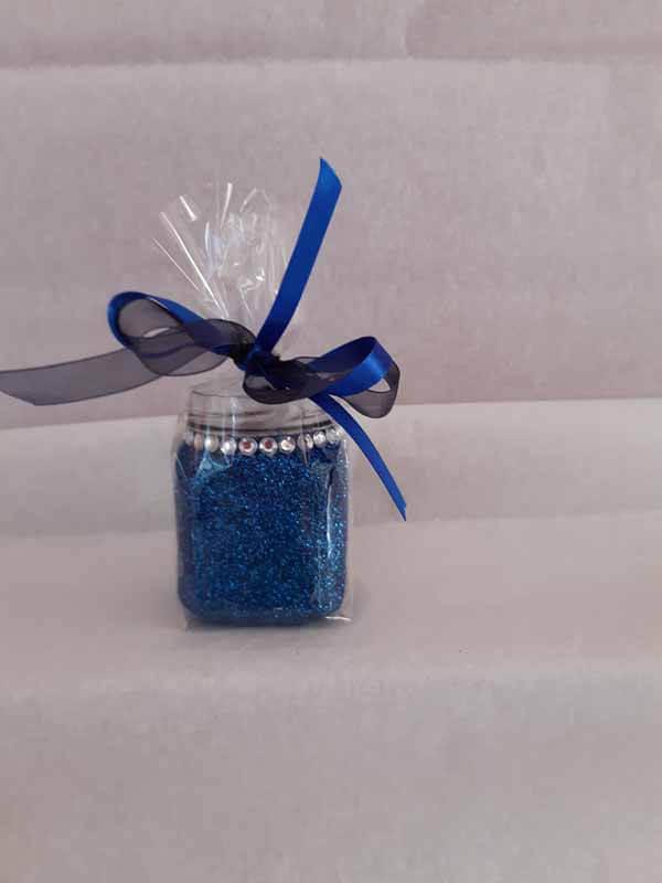 Blue Small Sweet Glittered Jars
