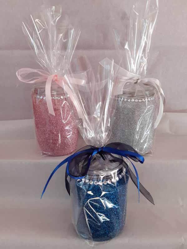 Mixed Large Sweet Glittered Jars