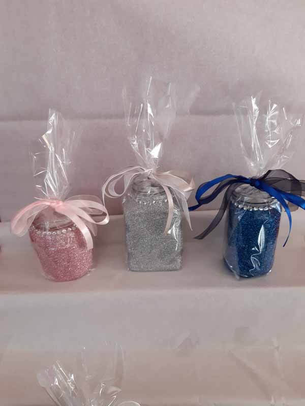Mixed Medium Sweet Glittered Jars