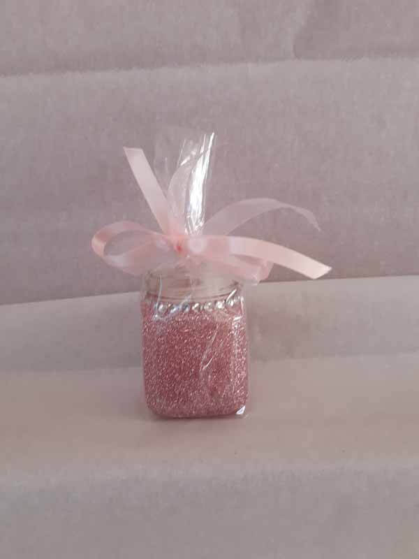 Pink Small Sweet Glittered Jars