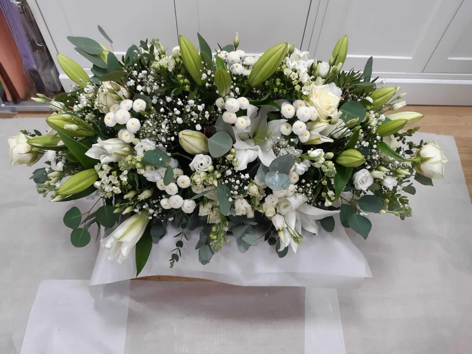 Funeral double end casket